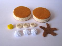 Felt food Pancake set banana eco friendly by FeltFoodTruck on Etsy