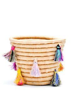 Painted Tassel Basket - LEIF