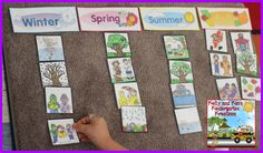 Learning about the four seasons in your early childhood classrooms.....sorting seasonal pictures...