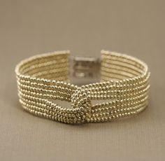 Beaded Jewelry The Heart Beading: Beginner Series: More About Seed Beads (Part Bracelet Fil, Seed Bead Bracelets, Jewelry Bracelets, Seed Beads, Peyote Bracelet, Silver Bracelets, Bead Earrings, Pearl Bracelet, Seed Bead Tutorials