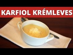 Karfiol krémleves videó recept - YouTube Fondue, Cheese, Tableware, Ethnic Recipes, Youtube, Dinnerware, Tablewares, Dishes, Place Settings