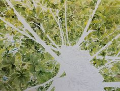 all leaves painted with watercolor