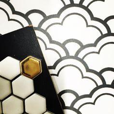 #twofortuesday #tile #tileaddiction #hexagon #hexalove #ihavethisthingwithfloors #design #designer #interiors #interiordesign #decor #homestyling #instastyle #trend #gold #blackandwhite #pattern #cloud #mosaic #cookmanave #asburypark #moden #style #modernistatile #love #xoxo by modernistatile