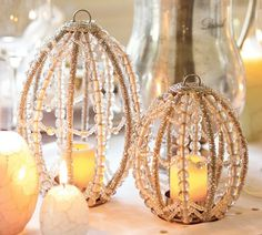 PB beaded candle holder...perfect for Easter!