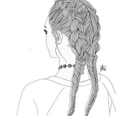 Black And White Drawings Of Girls love this [credit to owner] paintmysoulwhite credit to owner// paintmysoulwhite {credit to own. Tumblr Girl Drawing, Tumblr Drawings, Tumblr Art, Tumblr Girls, Tumblr Outline, Outline Art, Outline Drawings, Cool Drawings, Black And White Girl