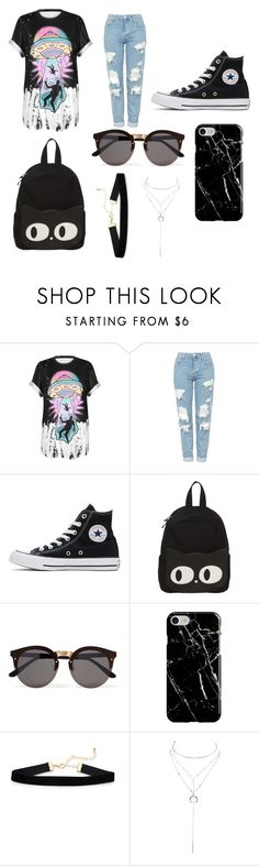 """Untitled #295"" by alexandriamcbride on Polyvore featuring WithChic, Topshop, Converse, Illesteva, Recover and Charlotte Russe"