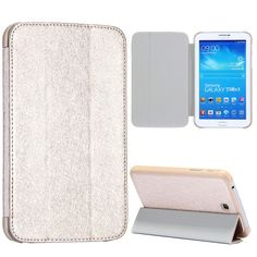 Samsung Galaxy Tab 3 (7.0) PU lederen cover, case, hoes zilver