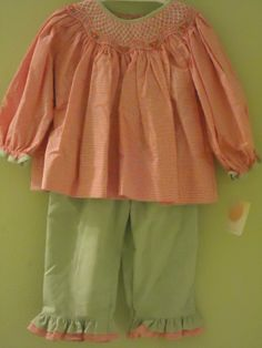 Cute smocked outfit for Halloween
