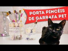 Artesanato Com Garrafa Pet - Porta Pincéis Reciclado - Faça Você Mesmo, Diy - YouTube