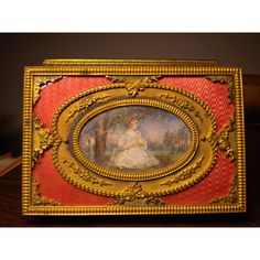 FRENCH ENAMEL ORMOLU collector's box. Museum Quality Exquisite... ($5,651) ❤ liked on Polyvore featuring home, home decor, small item storage, french enamel box, vintage, antique, etsy, ormolu, epoque and hinged box