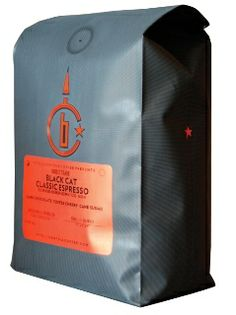 """Black Cat Intelligentsia Coffee-Carefully roasted by the good folks at Intelligentsia in Chicago, """"Black Cat"""" makes perfectly golden brown shots of espresso that taste as smooth as caramel with no bitterness."""