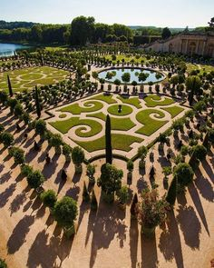 The gardens at the Palace of Versailles in France.