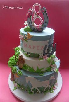 Cake with horses - Cake by sonatatorte