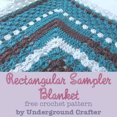 Rectangular Sampler Blanket By Marie Segares - Free Crochet Pattern - (ravelry)