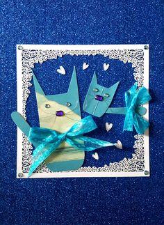 Blue & Skye (print) - artwork by Rita Dabrowicz Blue Skye, How To Make Paper, Artwork Prints, Collage, Cat, Shop, Handmade, Decor, Decorating