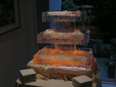 Ice tower for Seafood
