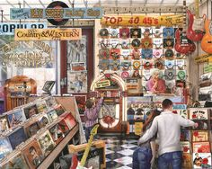 """""""The Melody Shop"""" ~ a 1000 piece jigsaw puzzle by Springbok Puzzles."""