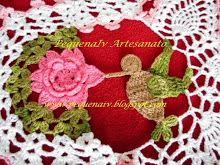 Caminho de mesa Beija-flor - Crochê