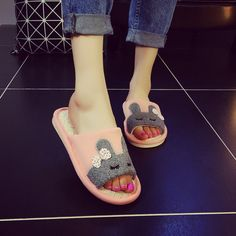 50pcs/lot New Unisex Cartoon Slippers Shoes Unisex Men Women Spring Home Slippers Lovers Explosion Models Linen