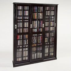 Mission Style Multimedia Storage Cabinet with Sliding Glass Doors can Hold up to 1050 CD's or 504 DVD'S. Solid Oak Veneer with Brushed metal door pulls and Tempered Glass. Weight Loss Resolution Roadmap Don't only make large goals when it comes to weight loss resolutions. Sure, it's goo... more details available at https://furniture.bestselleroutlets.com/game-recreation-room-furniture/tv-media-furniture/media-storage/product-review-for-leslie-dame-ms-1050es-miss