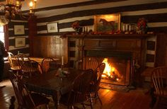 My favorite place to sit and eat Chicken Pot Pie at Hunter's Head Tavern - Upperville, Virginia