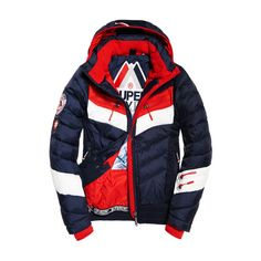 Superdry Scuba Carve Hooded Jacket ($168) ❤ liked on Polyvore featuring men's fashion, men's clothing, men's outerwear, men's jackets, navy, old navy mens jackets, mens short sleeve jacket, mens jackets, superdry mens jacket and mens water resistant jacket