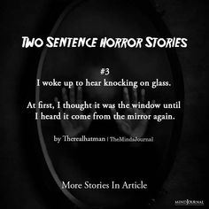 100+ Two Sentence Horror Stories That'll Freak You Out