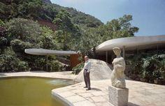 """evajenks: """" Oscar's Canoas house, in Rio de Janeiro (1953) """""""
