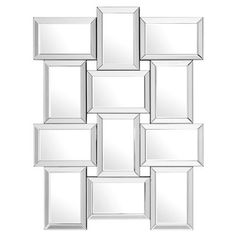 Constructed from mirror glass and medium-density fibreboard Tall Wall Mirrors, Wall Mirrors Entryway, Lighted Wall Mirror, Rustic Wall Mirrors, Mirror Wall Collage, Living Room Mirrors, Round Wall Mirror, Mirrors Silver, Living Rooms