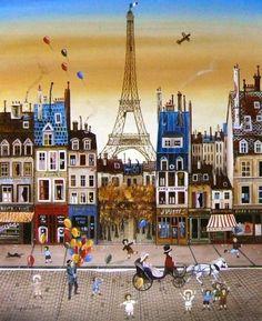 Illustration Parisienne, Paris Illustration, Illustrations, Tour Eiffel, Torre Eiffel Paris, Paris Painting, City Painting, Delacroix Paintings, Art Parisien