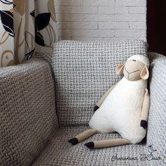 Aleshkina Julia. Handmade Lamb pillow - no tutorial