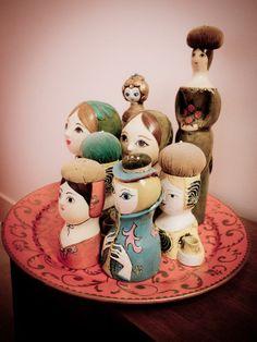 Mexican paper mache doll decor
