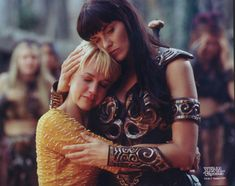 Xena Warrior Princess and Gabrielle....so wanted to be Xena