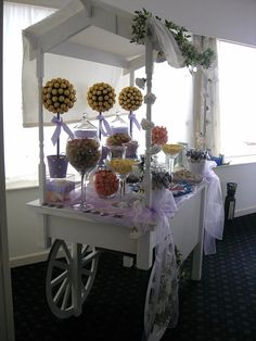 Lilac Wedding Cart Candy cart/ Sweet cart
