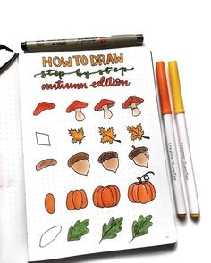 Simple fall doodles for your bullet journal that you need to see! These step by step Halloween doodles are too cute! Simple fall doodles for your bullet journal that you need to see! These step by step Halloween doodles are too cute! Bullet Journal 2020, Bullet Journal Aesthetic, Bullet Journal Notebook, Bullet Journal Ideas Pages, Bullet Journal Inspo, Bullet Journal October Theme, Bullet Journal Entries, Bullet Journal Prompts, Arc Notebook