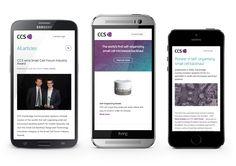 Mock up of #responsive website redesign for CCS. #webdesign#digital #design #technology #website
