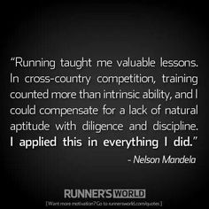 Cross country and Nelson Mandela.