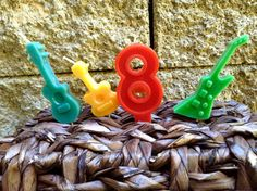 Rock Star birthday candles 6.00 by BabyBearCrayons on Etsy