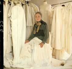 Designer Madame Grès in 1984. She was one of the last of the haute couture houses to establish a ready-to-wear line.
