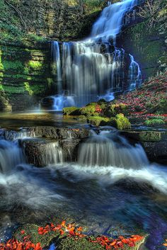 Scaleber Force, Yorkshire Dales, UK. Such beauty surrounds Broughton Hall - we're so lucky to have this scenes of nature
