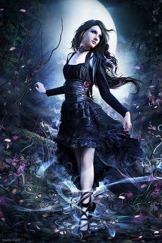 Yayashin in 2020 Dark gothic art Gothic fantasy art Beautiful fantasy art