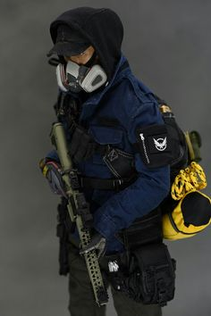 """1//6 Scale Tom clancy/'s The Division Black Tactical Bulletproof Vest F 12/"""" Action"""