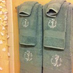 Monogrammed towels!! :) Monogram Towels