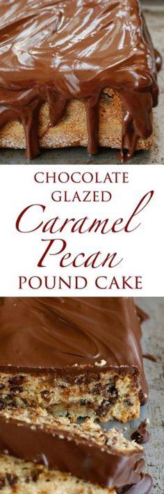 Chocolate Caramel Pecan Pound Cake | eBay