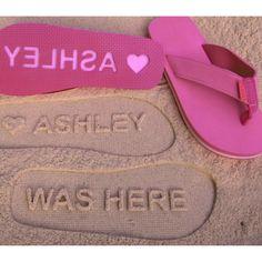 Custom Sand Imprint Sandals. Design Your Own Pair. by Flip Side Flip Flops