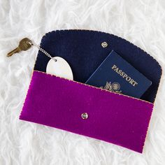 Sewn Felt Accessories - like a passport wallet or even glasses case? (inspiration only haven't looked at the pattern)