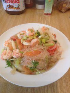 Thai grass noodles salad