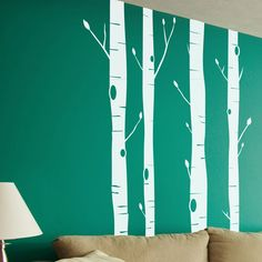 Wall Decals: 4 Piece Aspen Trees Set. this would be cute for a kids room!