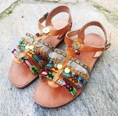Handmade Sandals, Greek Sandals, Gladiator Sandals, Boho Sandals, Strappy Sandals, Spartan Sandals, Decorated Sandals, Greek Leather Sandals #etsy #shoes #women #gladiatorsandals #bohosandals #leathersandals #handmadesandals #ancientgreeksandal #greekleathersandal
