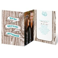 country wedding invitation I gettin' hitched